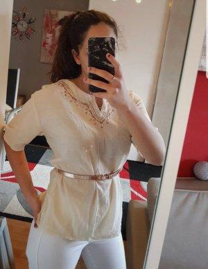 Linnen blouse beige