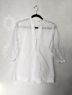 Baumwollbluse leicht Transparent Pure Cotton Edel Zeitlos Business