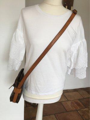 Baumwolle Blusenshirt mit Lochstickerei