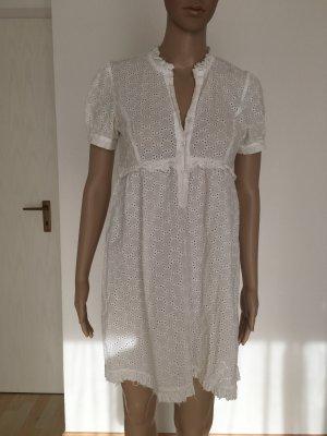 Shortsleeve Dress white cotton