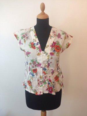 Baumwolle Cotton Kimono Bluse Blumen AOP bunt Sommer Farbe