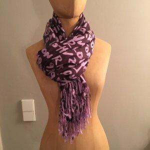 Baumwolle Schal lila top Zustand