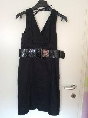 Amisu Vestido elástico negro Algodón