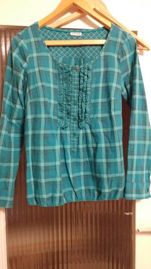 Baumwollhemd in Blusenoptik