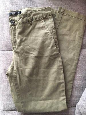 Mango Pantalone jersey grigio-verde-cachi Cotone