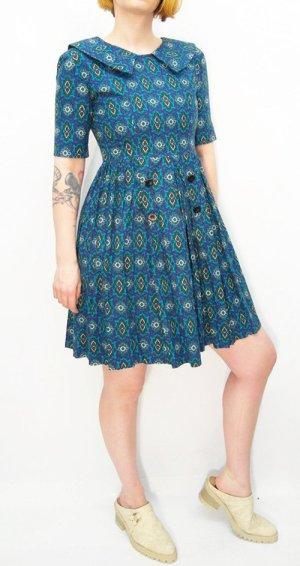 Baumwollkleid Gr. XS Vintagelook Kleid