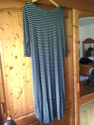 Baumwollkleid grau schwarz geringelt von Vestino