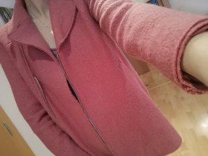 Zara Manteau en laine rouge framboise