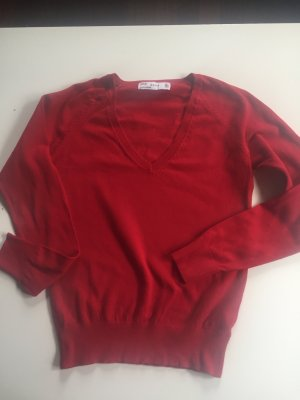 Zara Pull col en V rouge