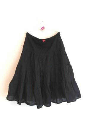 Esprit Falda con volantes negro Algodón