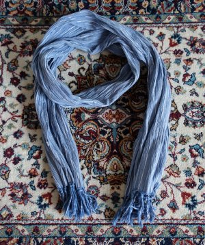 Pepe Jeans Sjaal met franjes azuur-wit Katoen