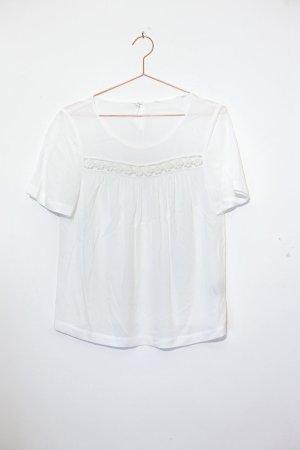 Boden Top di merletto bianco-bianco sporco