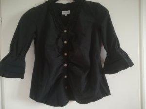 Blusa folclórica negro-color plata