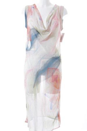 bbandolera Robe chiffon motif abstrait style romantique