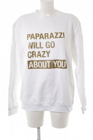 BC Collection Sweatshirt wit-goud gedrukte letters boyfriend stijl