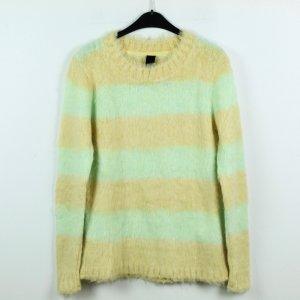 BC Collection Pull tricoté jaune clair-gris vert tissu mixte