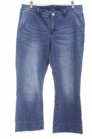 BC Jeansschlaghose blau Bleached-Optik