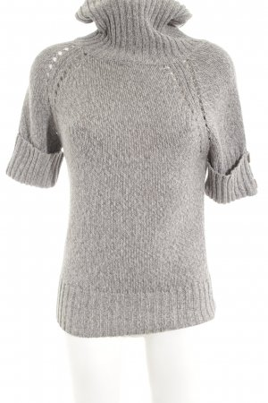 BC Short Sleeve Sweater light grey casual look