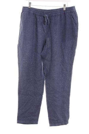 BC Pantalon en lin bleu foncé style marin