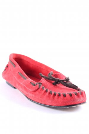 BC Moccasins dark brown-brick red sailor style