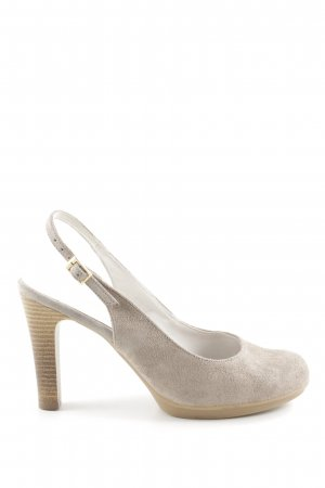 BC Slingback-Pumps wollweiß Casual-Look