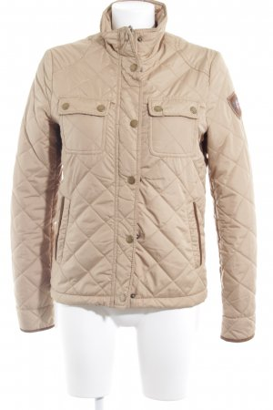 BC Quilted Jacket sand brown appliqué