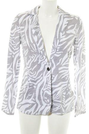 BC Blazer sweat blanc-gris clair motif de camouflage style d'affaires
