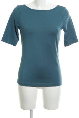 BC T-shirt col en V bleu style décontracté