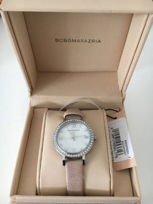 BCBG Maxazria Watch With Leather Strap pink-light grey