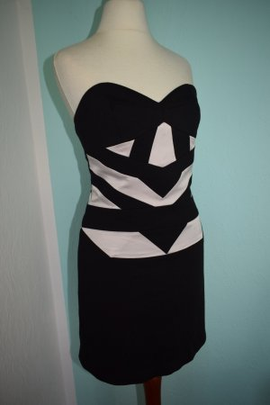 BCBG Bandeaukleid size 2 Gr. 36 Bodycon Bandage Dress schwarz weiß