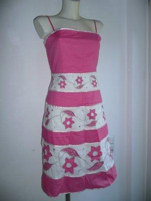 BCBG Girls Eyecatcher Kleid mit Trägern Pink weiß Silber Gr 36