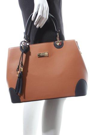 BCBG Handtasche braun-dunkelblau klassischer Stil