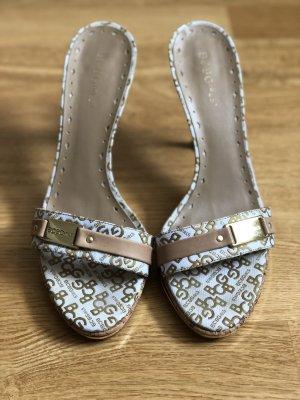 BCBG Max Azria Girls Sandalette weiß beige gold Gr 40