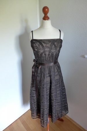 BCBG Max Azria Kleid Gatsby Abendkleid braun Gr. 34/36 wie neu