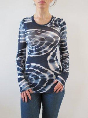 BCBG Max Azria Shirt Top Oberteil NEU Original XXS XS Navy Blau Batik