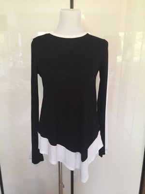 BCBG Max Azria Top black and white asymmetrisch