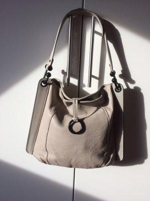 BCBG Maxazria Pouch Bag oatmeal-light grey leather
