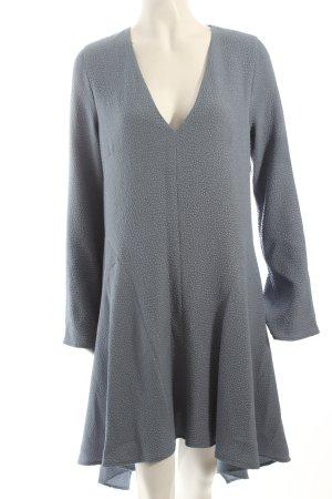 BCBG Maxazria A-Linien Kleid stahlblau schlichter Stil