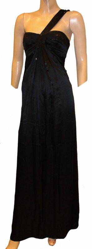 BCBG MAXAZRIA Abendkleid Seide schwarz edel Gr. 36
