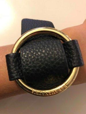 BCBG Maxazria Armband zwart-zandig bruin Leer