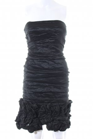 BCBG Maxazria Vestido bandeau negro elegante