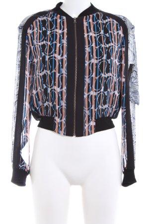 BCBG Maxazria Blouse Jacket mixed pattern casual look