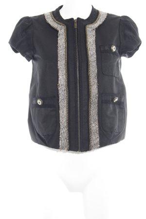 BCBG Maxazria Blusenjacke schwarz-bronzefarben extravaganter Stil
