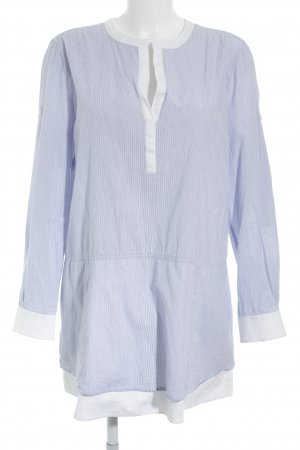 BCBG Maxazria Blusenkleid weiß-himmelblau Streifenmuster Segel-Look