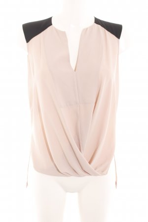 BCBG Maxazria Blouse Top cream-black elegant