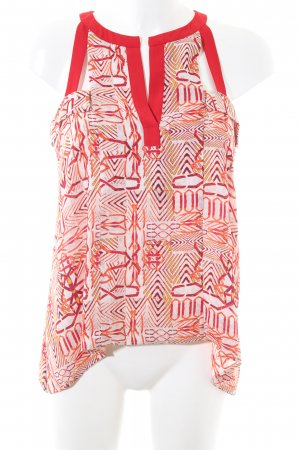 BCBG Maxazria Blouse Top abstract pattern casual look
