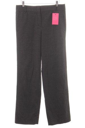 BCBG Maxazria Pantalon à pinces taupe-blanc rayure fine style d'affaires
