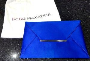 BCBG Maxazria Clutch Envelope Tasche königsblau blau satin