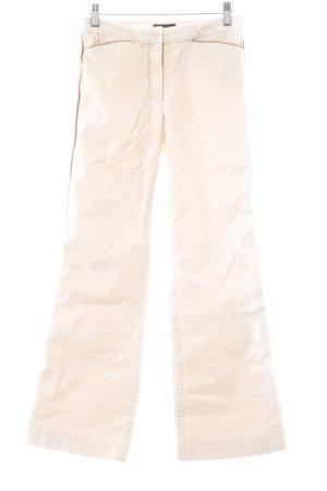 BCBG Maxazria Pantalón de pana crema-coñac Apariencia de mezcla de materiales