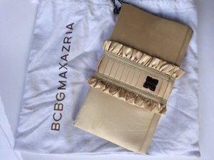 *BCBG Maxazria* Elegante Clutch, Tragekette, Satin in Nude/Gold